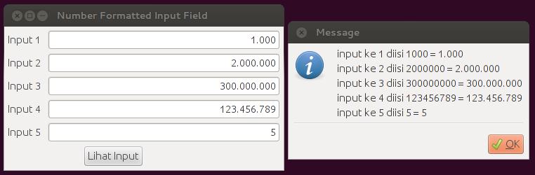 Number Format Text Field