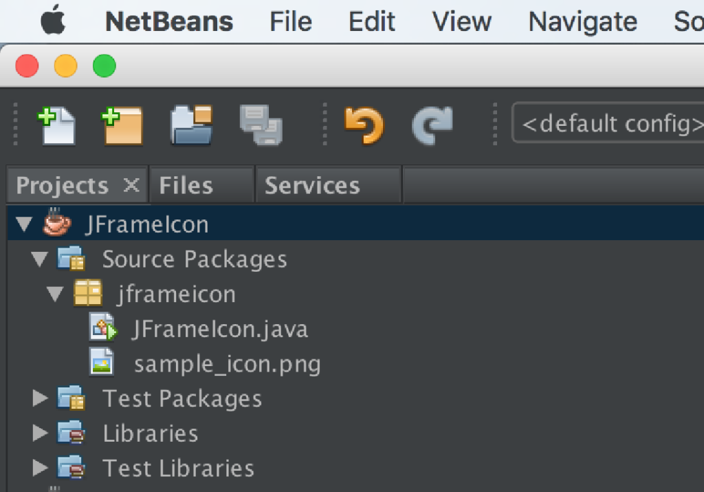 JFrame Custom Icon, Netbeans File structure