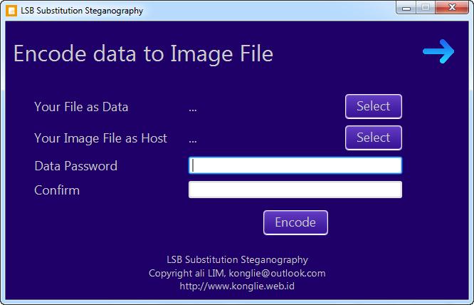 JavaFX Steganography Encode Panel